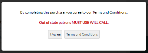 Terms and Conditions lightbox