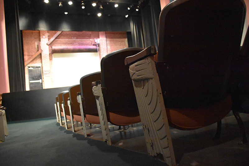 Side of theatre seats