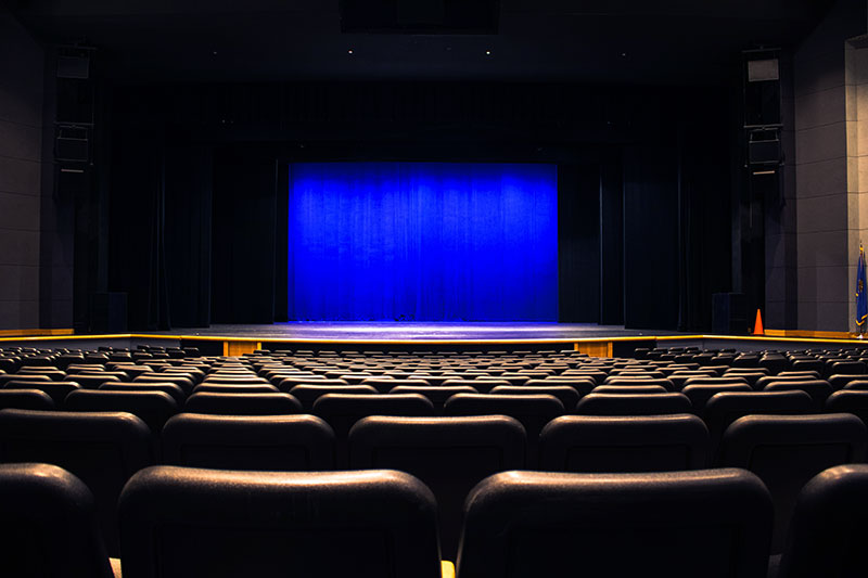Seats and an empty stage