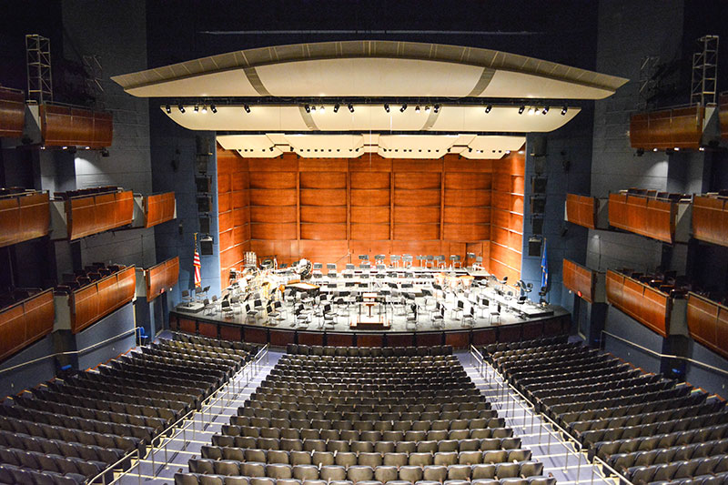 View of a stage