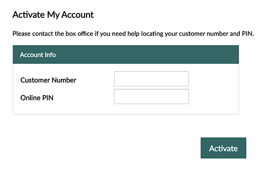 Example of Account Manager form fields